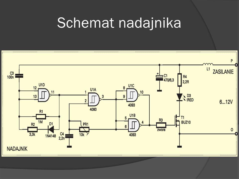 Scalony odbiornik TFMS5360 Opisywane dioda TSIP5201 wytwarza promieniowanie o długości fali 925nm.