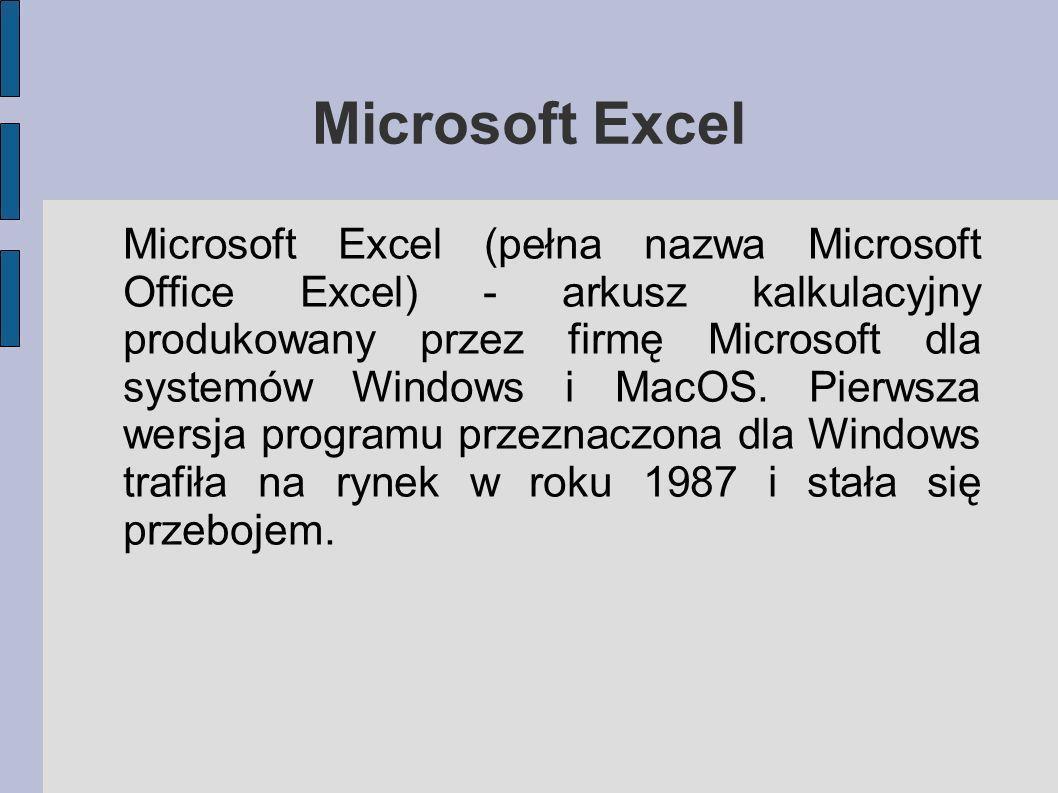 Microsoft Excel- ćwiczenia Lista plików ze strony: http://glowacki.kk.com.pl/3/1.xls http://glowacki.kk.com.pl/3/2.xls http://glowacki.kk.com.pl/3/3.xls http://glowacki.kk.com.pl/3/4.xls http://glowacki.kk.com.pl/3/5.xls http://glowacki.kk.com.pl/3/1.htm