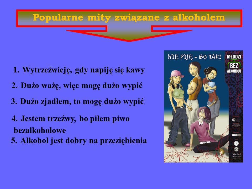 Problemy alkoholowe w Polsce Około 800 tys. ludzi jest uzależnionych od alkoholu. Ponad 2 mln. osób nadużywa alkoholu. Około 4 milionów osób żyje w ro