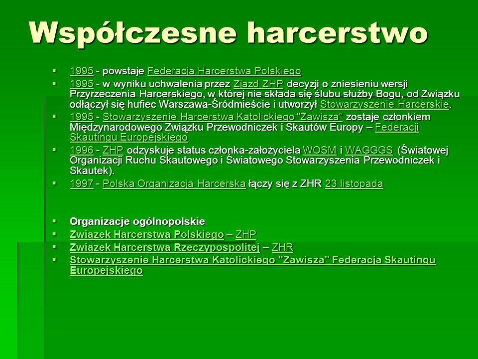 Współczesne harcerstwo 1995 - powstaje Federacja Harcerstwa Polskiego 1995 - powstaje Federacja Harcerstwa Polskiego 1995Federacja Harcerstwa Polskieg