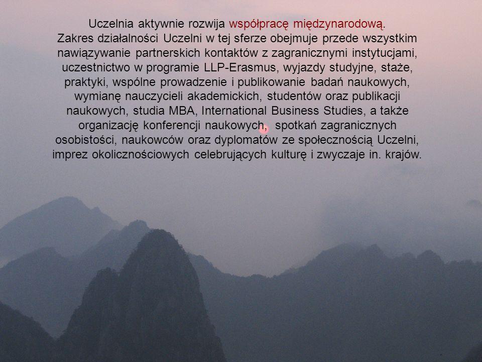 Uczelnia aktywnie rozwija współpracę międzynarodową.