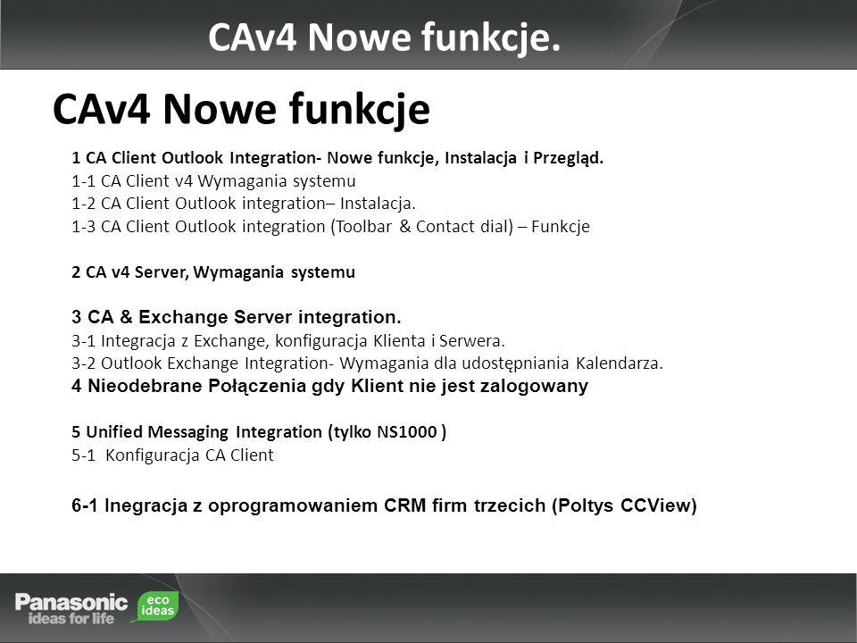 CAv4 Nowe funkcje CAv4 Nowe funkcje.