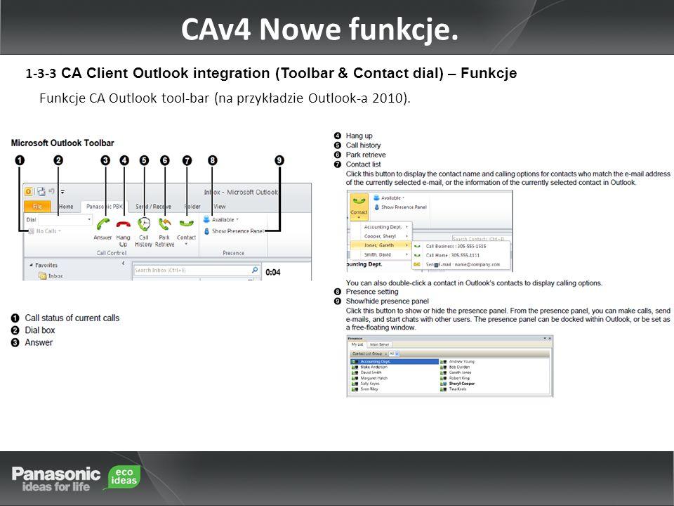 Funkcje CA Outlook tool-bar (na przykładzie Outlook-a 2010).
