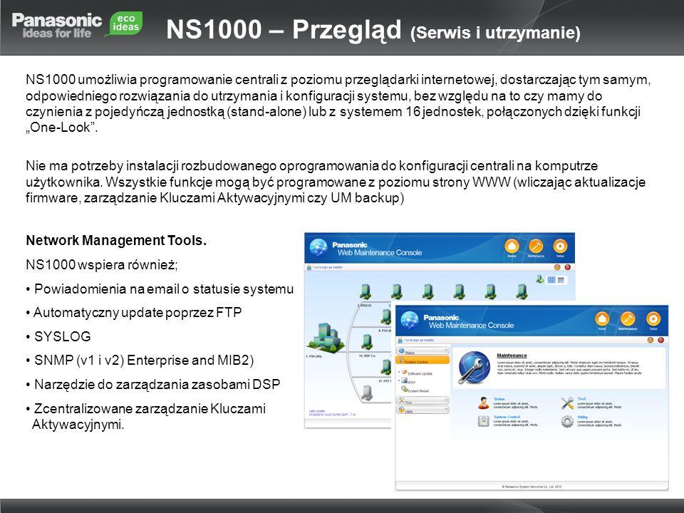 NS1000 umożliwia programowanie centrali z poziomu przeglądarki internetowej, dostarczając tym samym, odpowiedniego rozwiązania do utrzymania i konfigu