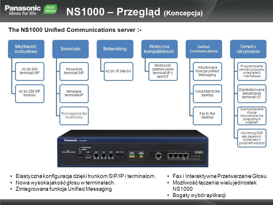 NS1000 umożliwia programowanie centrali z poziomu przeglądarki internetowej, dostarczając tym samym, odpowiedniego rozwiązania do utrzymania i konfiguracji systemu, bez względu na to czy mamy do czynienia z pojedyńczą jednostką (stand-alone) lub z systemem 16 jednostek, połączonych dzięki funkcji One-Look.