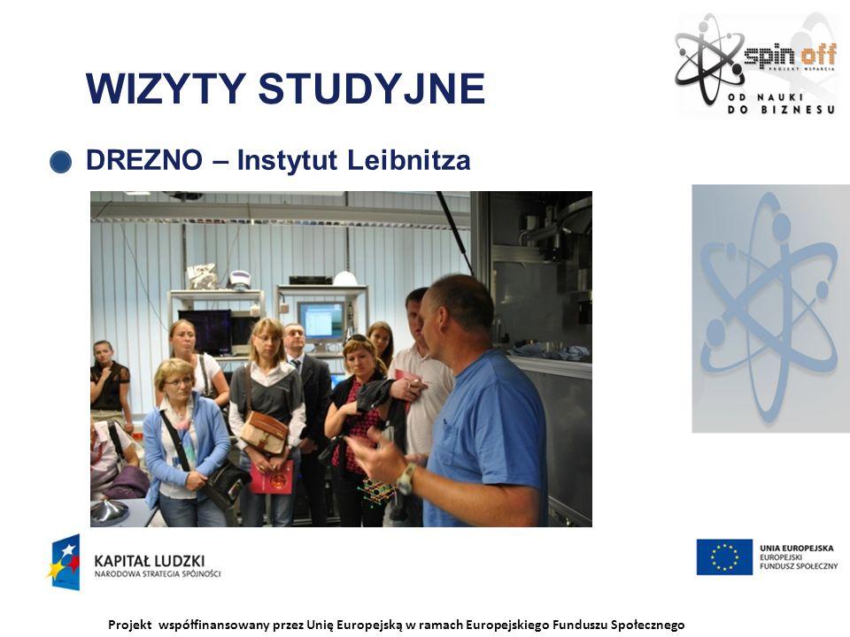 Projekt współfinansowany przez Unię Europejską w ramach Europejskiego Funduszu Społecznego WIZYTY STUDYJNE DREZNO – Instytut Leibnitza