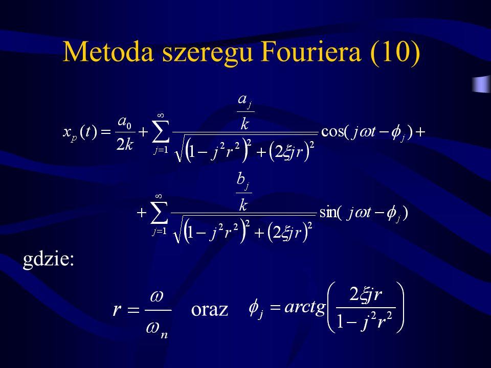 Metoda szeregu Fouriera (10) gdzie: oraz