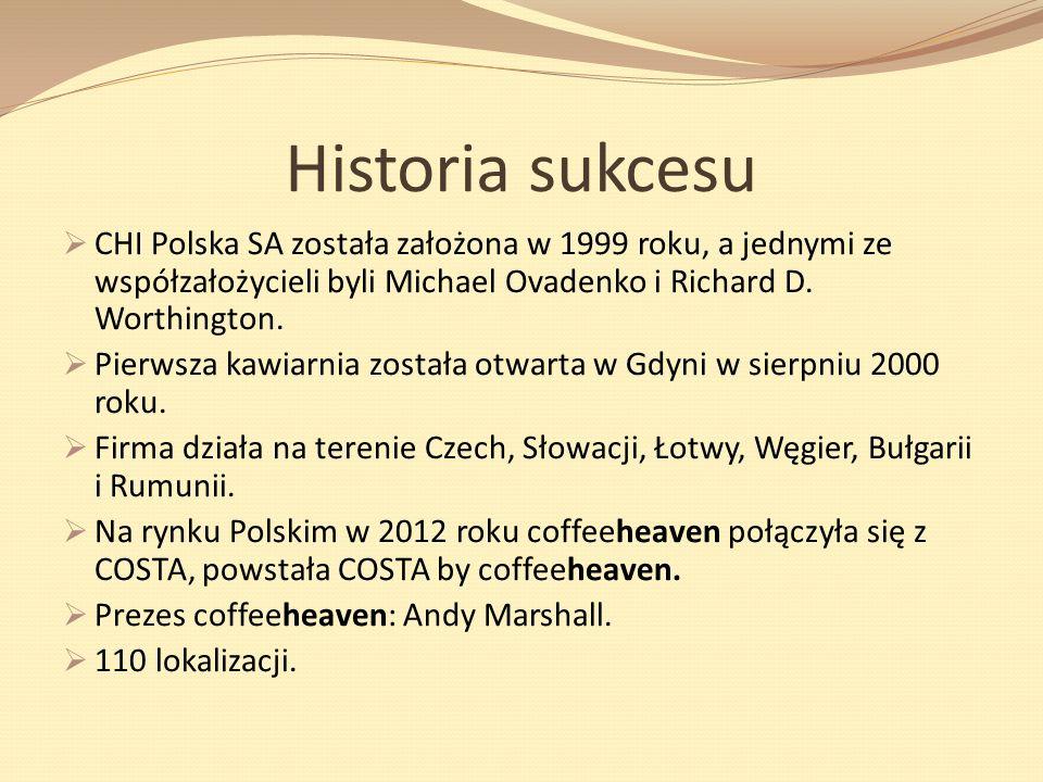 Historia sukcesu CHI Polska SA została założona w 1999 roku, a jednymi ze współzałożycieli byli Michael Ovadenko i Richard D. Worthington. Pierwsza ka