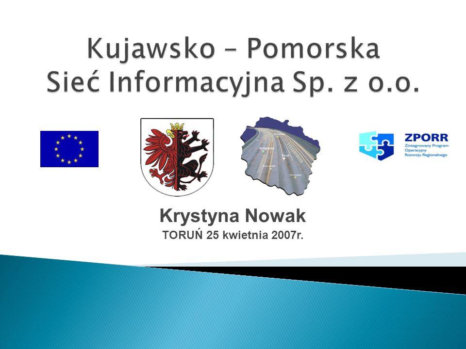 Krystyna Nowak TORUŃ 25 kwietnia 2007r.