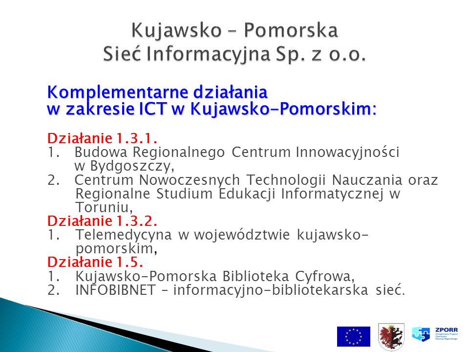 Komplementarne działania w zakresie ICT w Kujawsko-Pomorskim: Działanie 1.3.1.