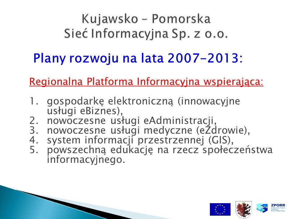 Plany rozwoju na lata 2007-2013: Regionalna Platforma Informacyjna wspierająca: 1.