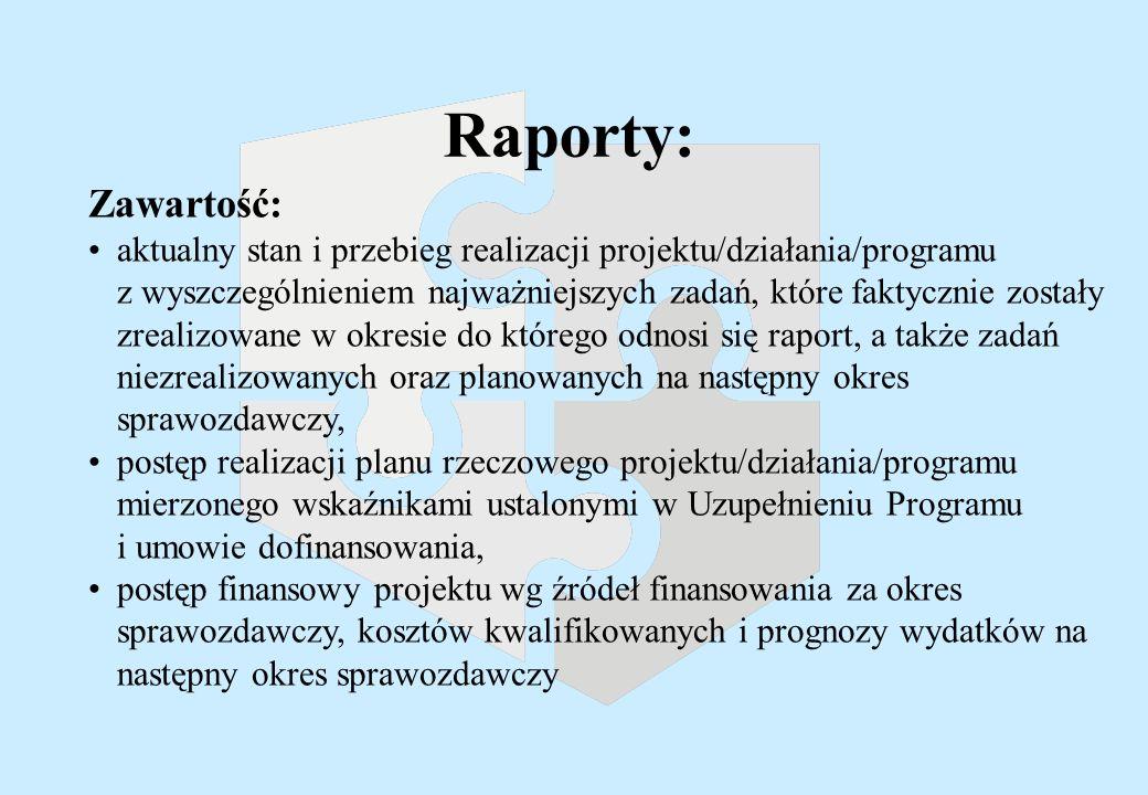 Terminy - sprawozdania okresowe P 2 i Dz.3.4. IZ ZPORR IPoś.