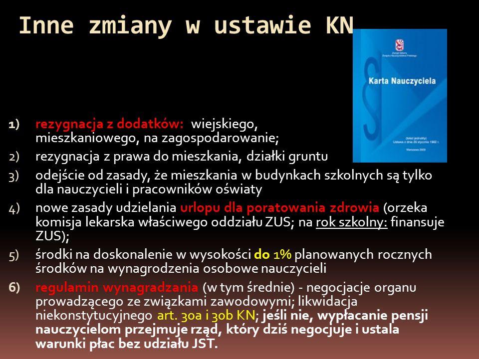 Propozycje strony samorządowej KWRiST dot.zmian w ustawie o systemie oświaty 1.