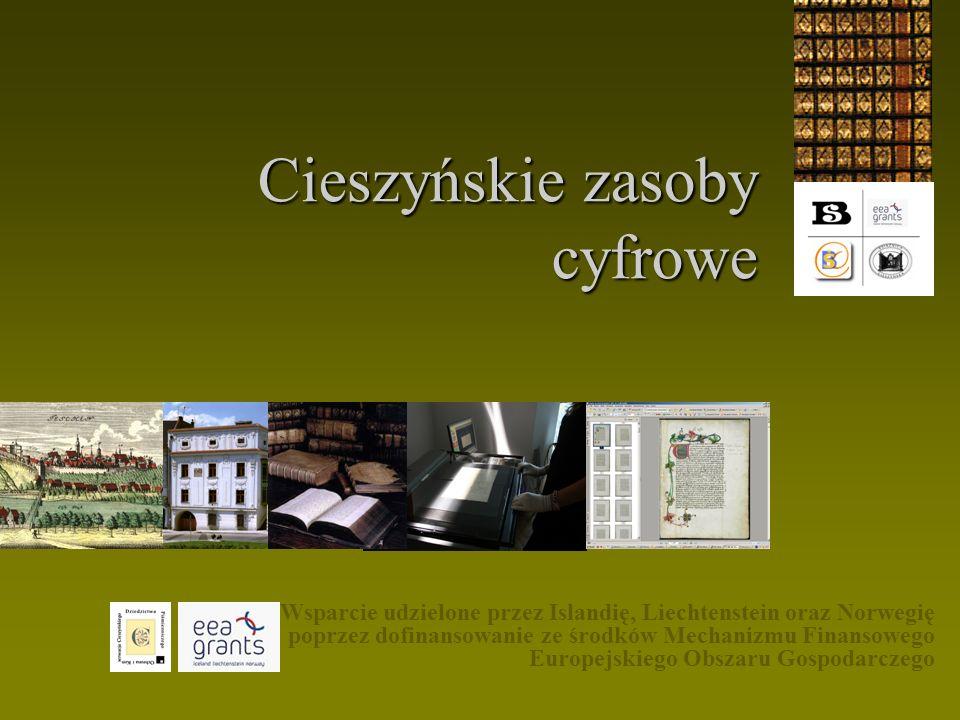 Cele: I.Cyfrowe kopie dokumentacji katalogowej jako substytut katalogowych baz danych.