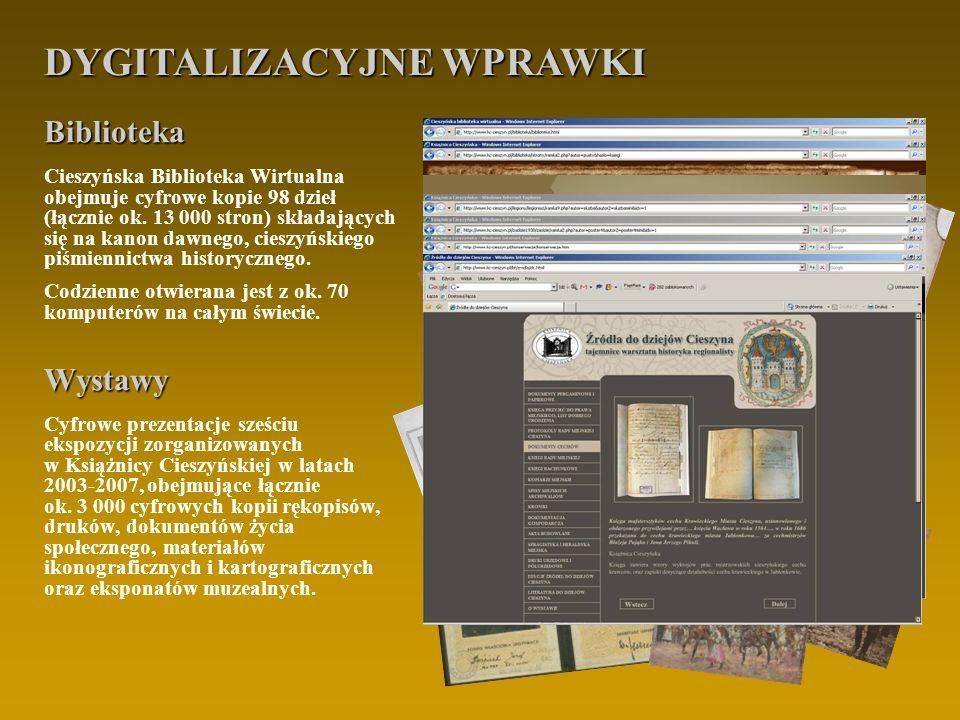 PROJEKT LIDER PROJEKTU: Książnica Cieszyńska, wysokość współfinansowania: 42% ul.