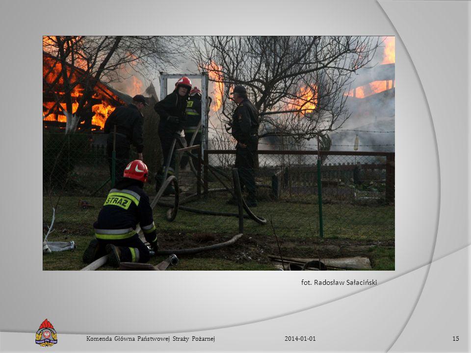 fot. Radosław Sałaciński 2014-01-01Komenda Główna Państwowej Straży Pożarnej15