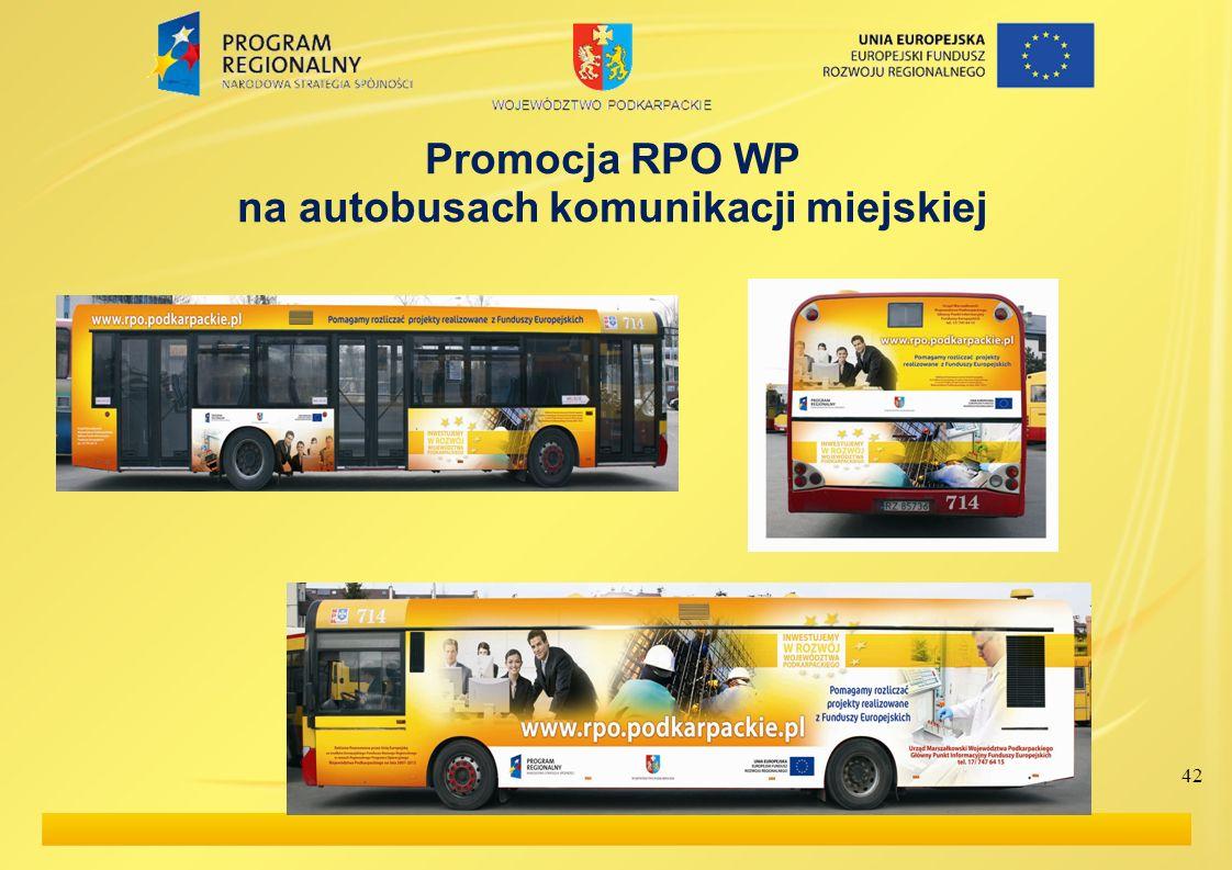 42 Promocja RPO WP na autobusach komunikacji miejskiej
