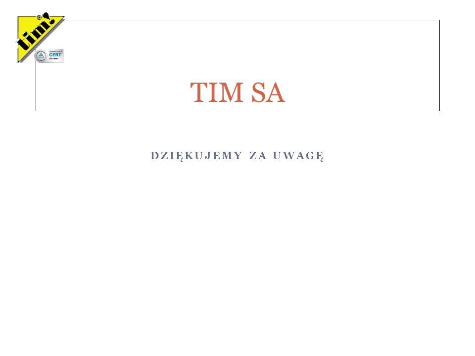 DZIĘKUJEMY ZA UWAGĘ TIM SA