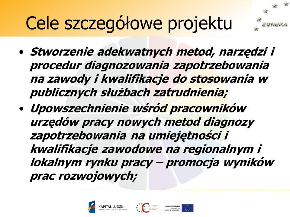 Część diagnostyczna projektu Analiza i ocena obecnie stosowanych metod diagnozowania potrzeb kwalifikacyjno-zawodowych w wybranych krajach UE i związanych z tym procesem dokumentów prawnych oraz literatury przedmiotu, Porównanie systemów, form i metod diagnozowania potrzeb kwalifikacyjno-zawodowych w urzędach pracy stosowanych w Polsce i pozostałych krajach Unii Europejskiej.