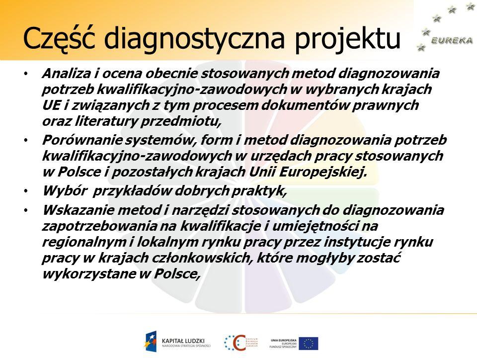 Część diagnostyczna projektu Analiza i ocena obecnie stosowanych metod diagnozowania potrzeb kwalifikacyjno-zawodowych w wybranych krajach UE i związa