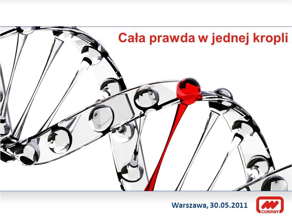 Cała prawda w jednej kropli Warszawa, 30.05.2011