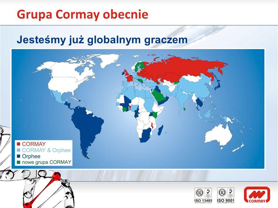 Grupa Cormay obecnie Jesteśmy już globalnym graczem