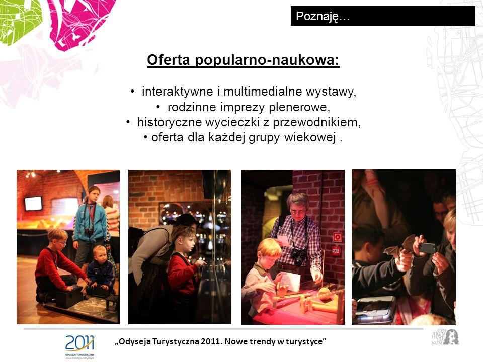 Oferta popularno-naukowa: interaktywne i multimedialne wystawy, rodzinne imprezy plenerowe, historyczne wycieczki z przewodnikiem, oferta dla każdej grupy wiekowej.