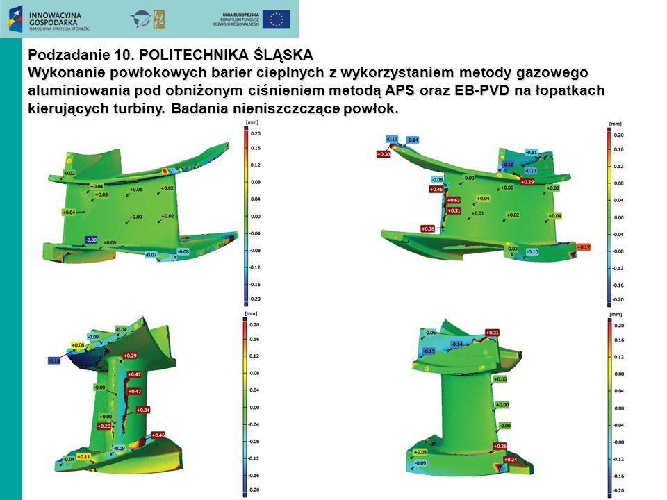 Podzadanie 10. POLITECHNIKA ŚLĄSKA Wykonanie powłokowych barier cieplnych z wykorzystaniem metody gazowego aluminiowania pod obniżonym ciśnieniem meto