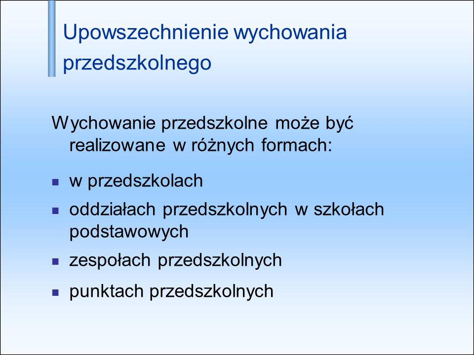 Obniżenie wieku obowiązku szkolnego Od 1 września 2009 r.