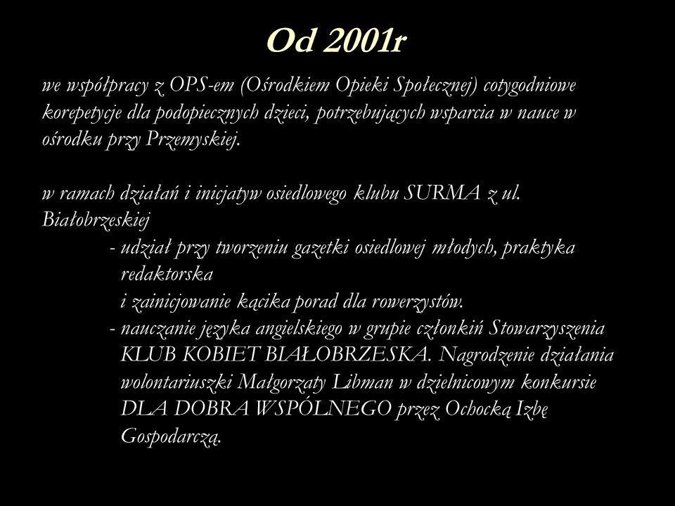 Społecznik Roku 2001 i 2002, Zbyszek Pajer