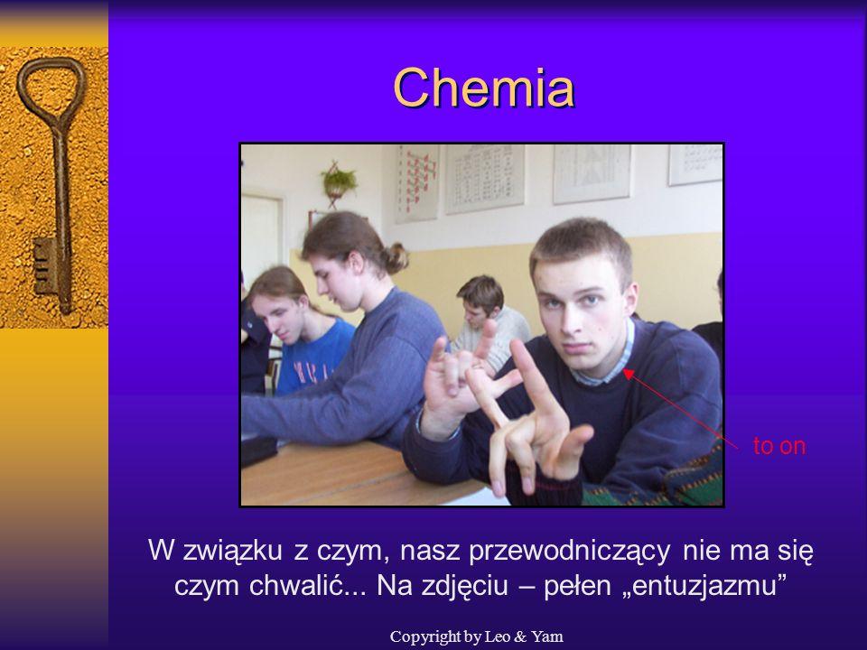 Copyright by Leo & Yam Chemia Teraz już lekcja chemii... Jednak nie zawsze frekwencja jest 100%