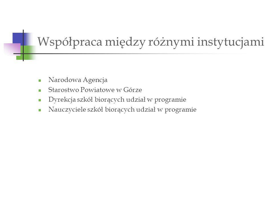 Sfera dydaktyczna Poznanie warsztatu pracy, warunków i specyfiki pracy poszczególnych szkół.