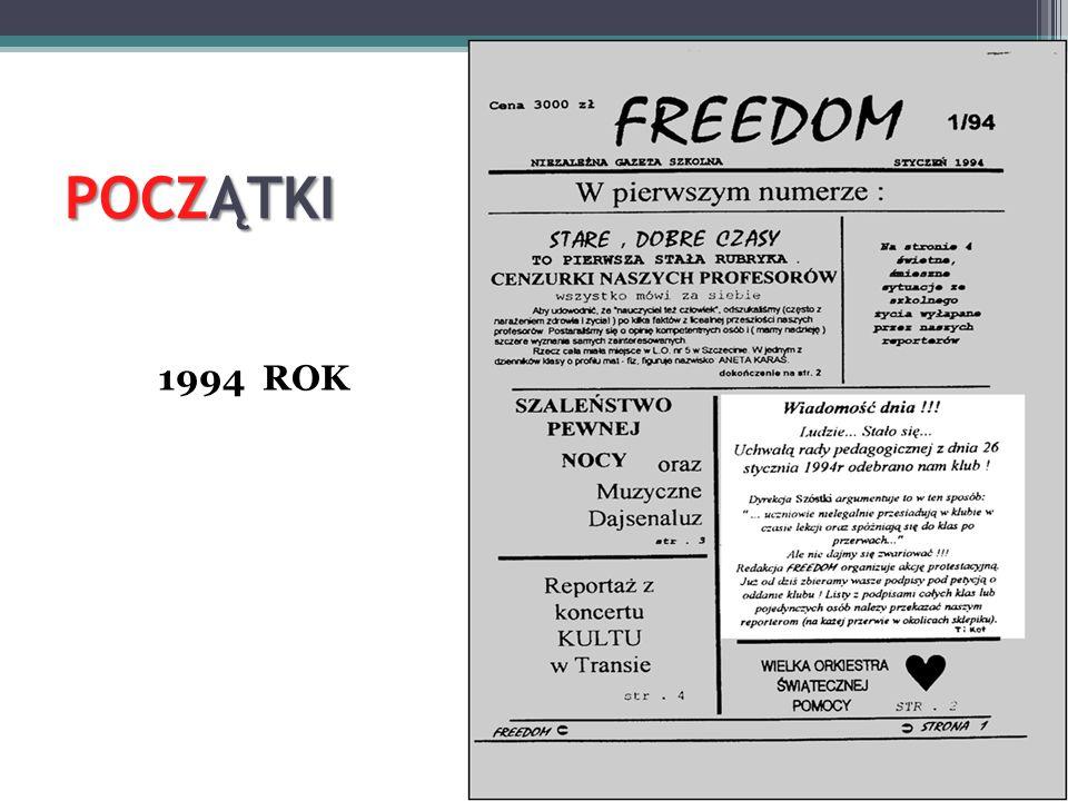 POCZĄTKI 1994 ROK