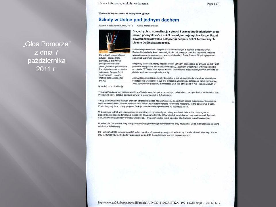 Głos Pomorza z dnia 7 października 2011 r.