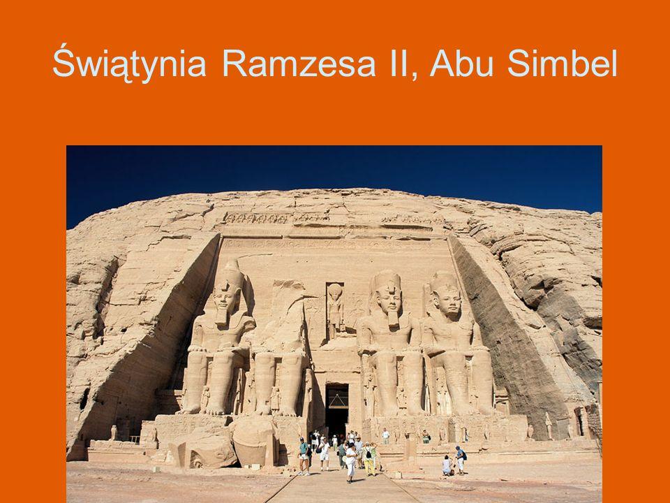 Architektura Świątynie: schemat budowy powstał w okresie Nowego Państwa – świątynia Chonsu w Karnaku, Horusa w Edfu, świątynie w Luksorze i Karnaku.