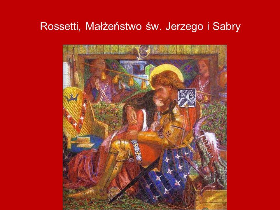 Rossetti, Małżeństwo św. Jerzego i Sabry