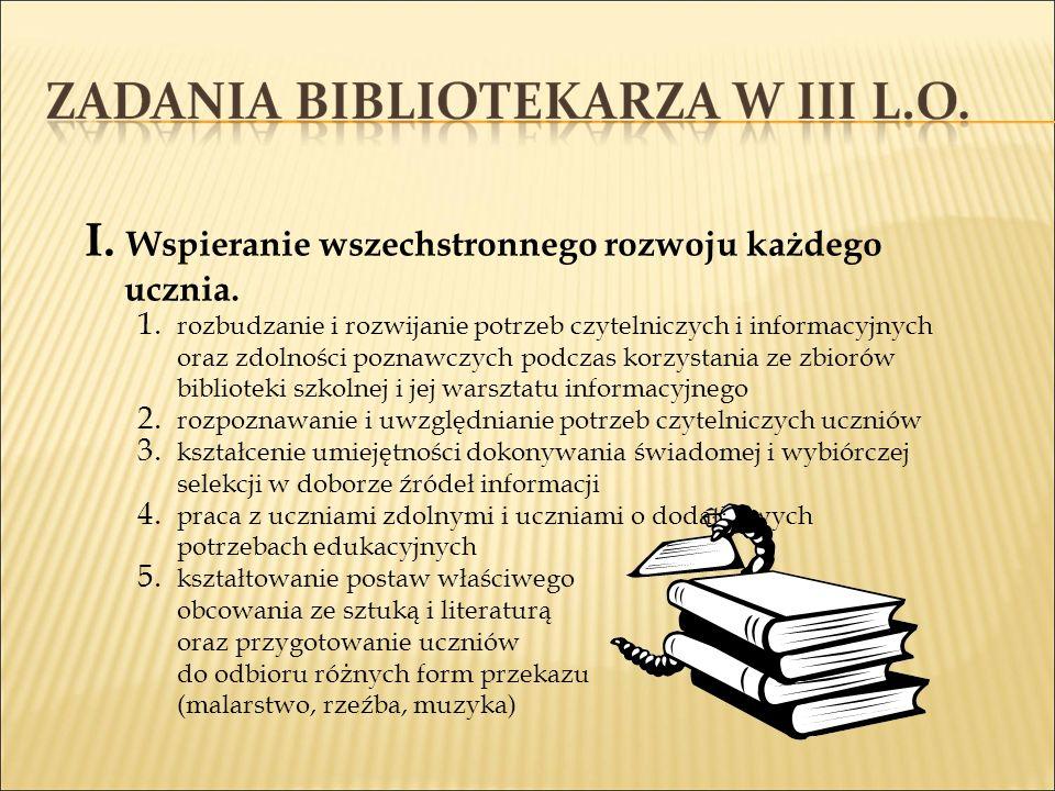 II.Wspieranie realizacji szkolnych programów: wychowawczego i profilaktycznego 1.