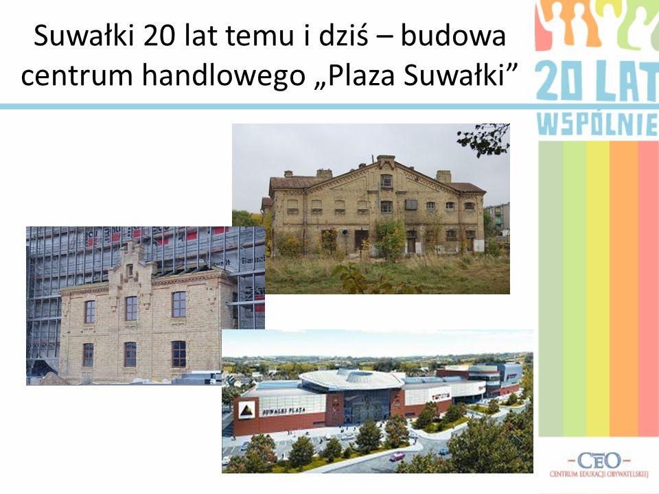 Suwałki 20 lat temu i dziś – budowa centrum handlowego Plaza Suwałki