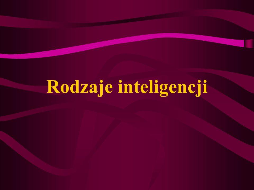 Teoria inteligencji wielorakich Howard Gardner