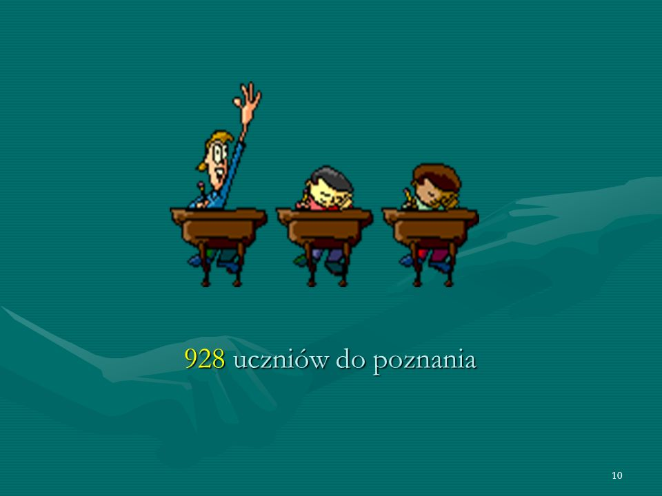 10 928 uczniów do poznania