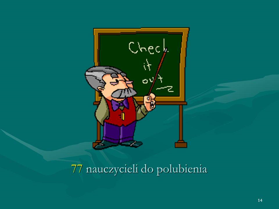 14 77 nauczycieli do polubienia