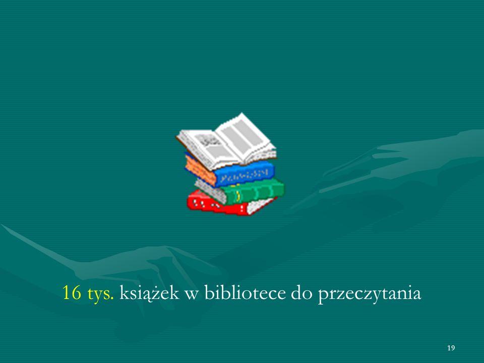 19 16 tys. książek w bibliotece do przeczytania