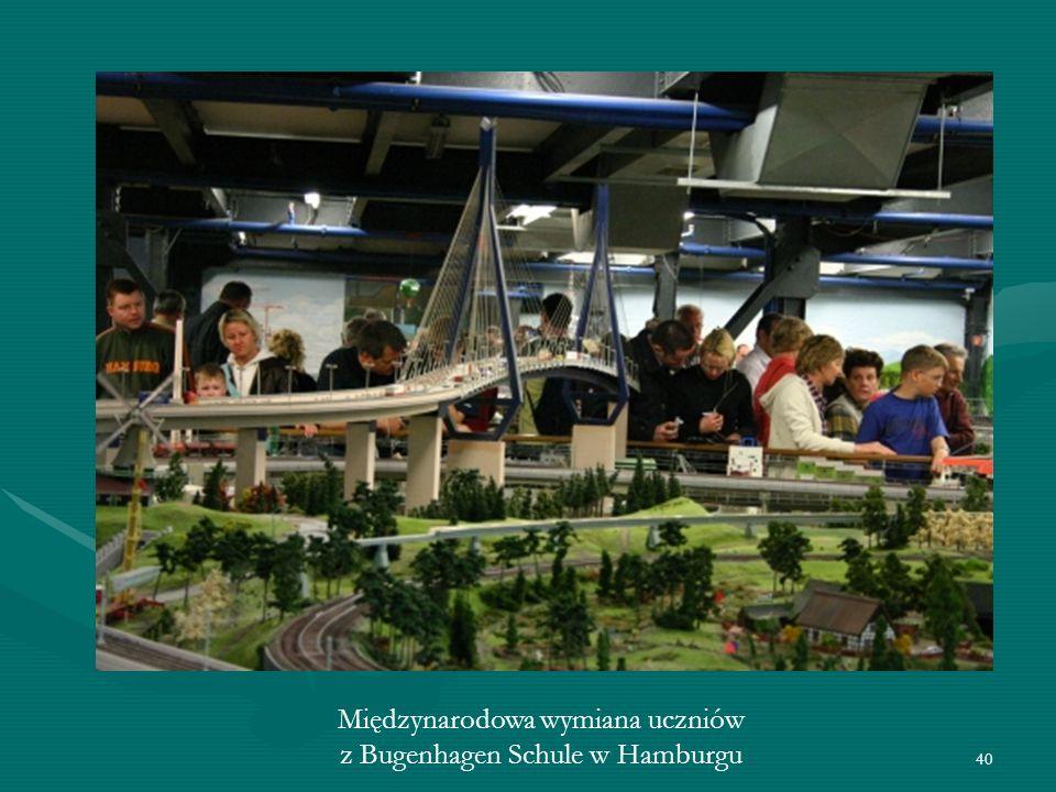 40 Międzynarodowa wymiana uczniów z Bugenhagen Schule w Hamburgu