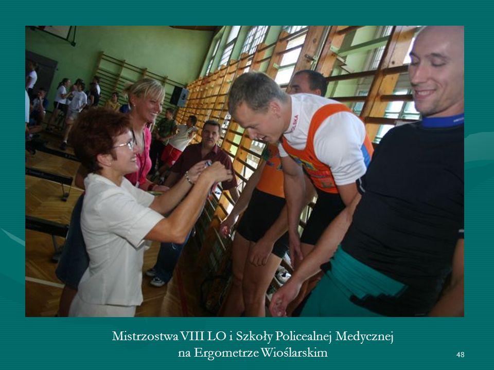 48 Mistrzostwa VIII LO i Szkoły Policealnej Medycznej na Ergometrze Wioślarskim