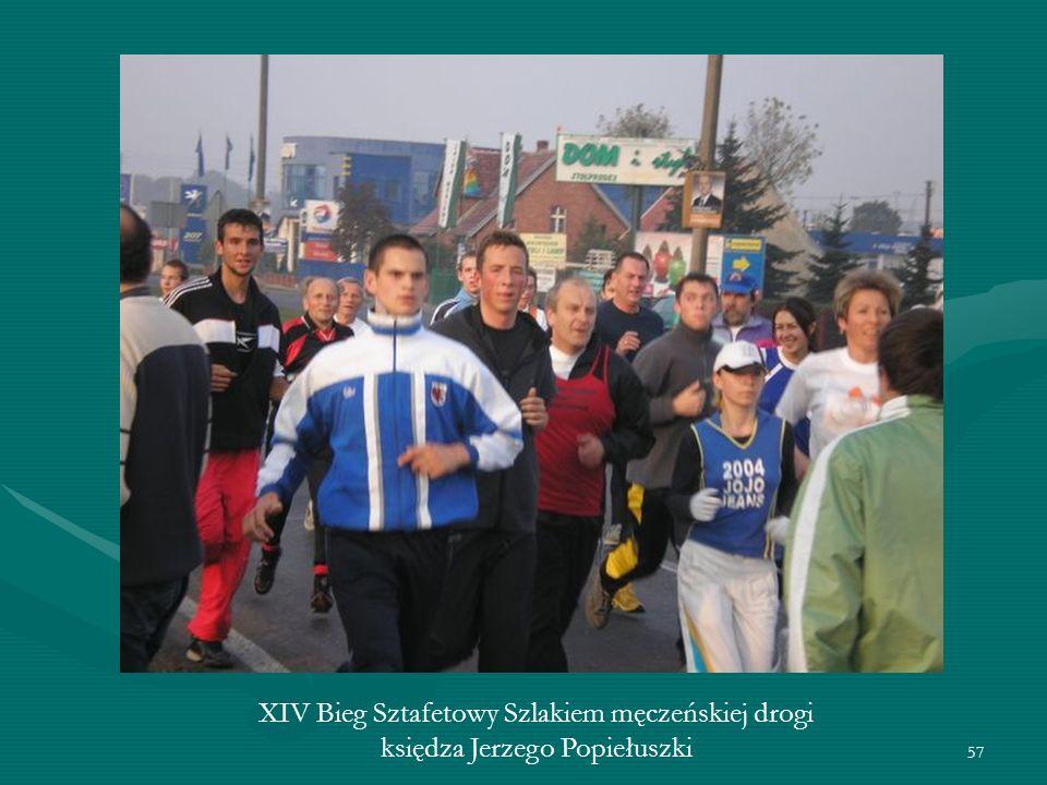 57 XIV Bieg Sztafetowy Szlakiem męczeńskiej drogi księdza Jerzego Popiełuszki