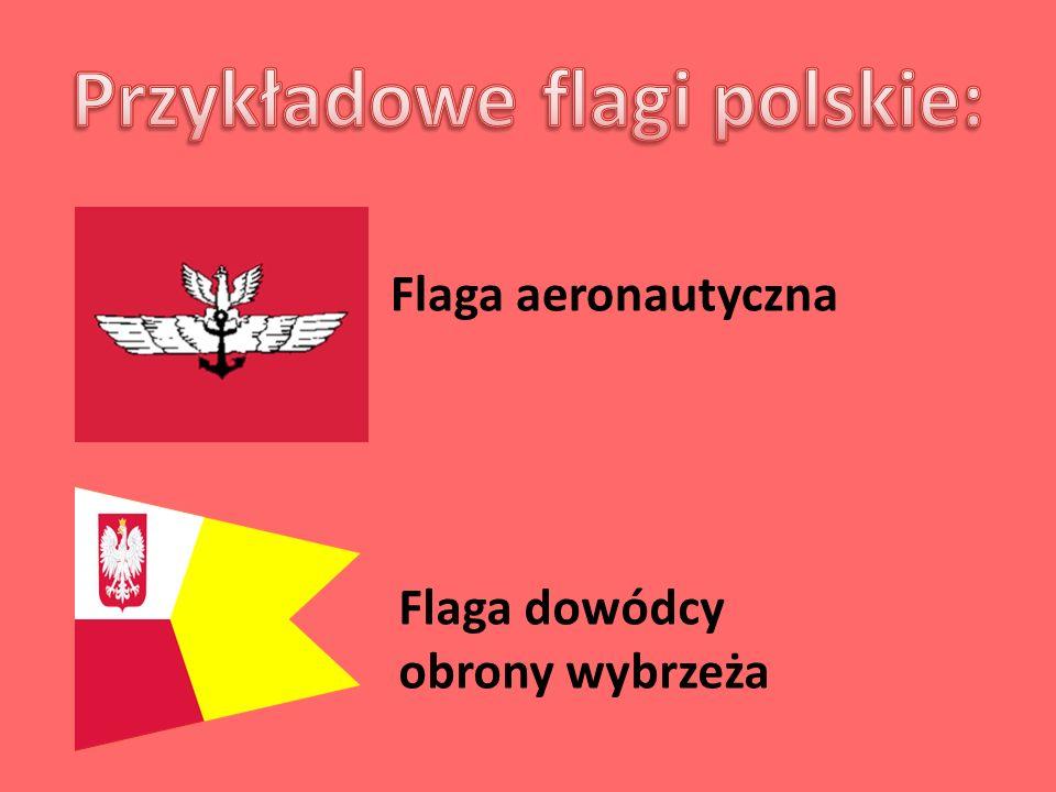 Flaga aeronautyczna Flaga dowódcy obrony wybrzeża