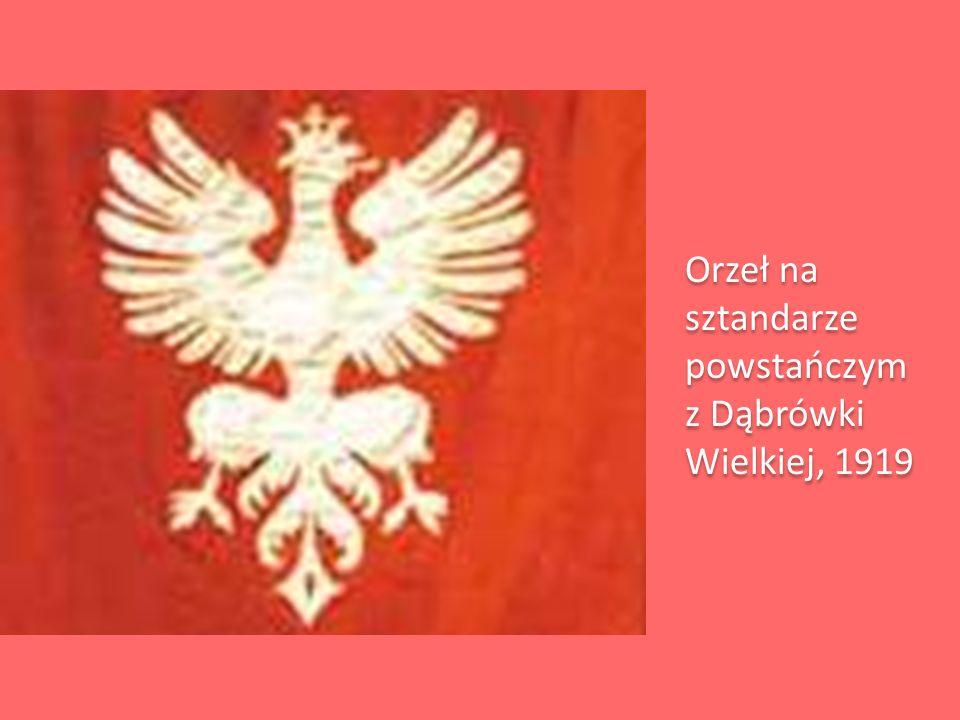 Orzeł na sztandarze powstańczym z Dąbrówki Wielkiej, 1919