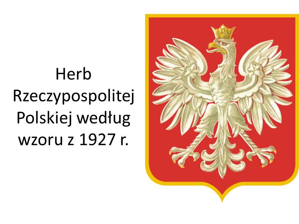 Herb Rzeczypospolitej Polskiej według wzoru z 1927 r.