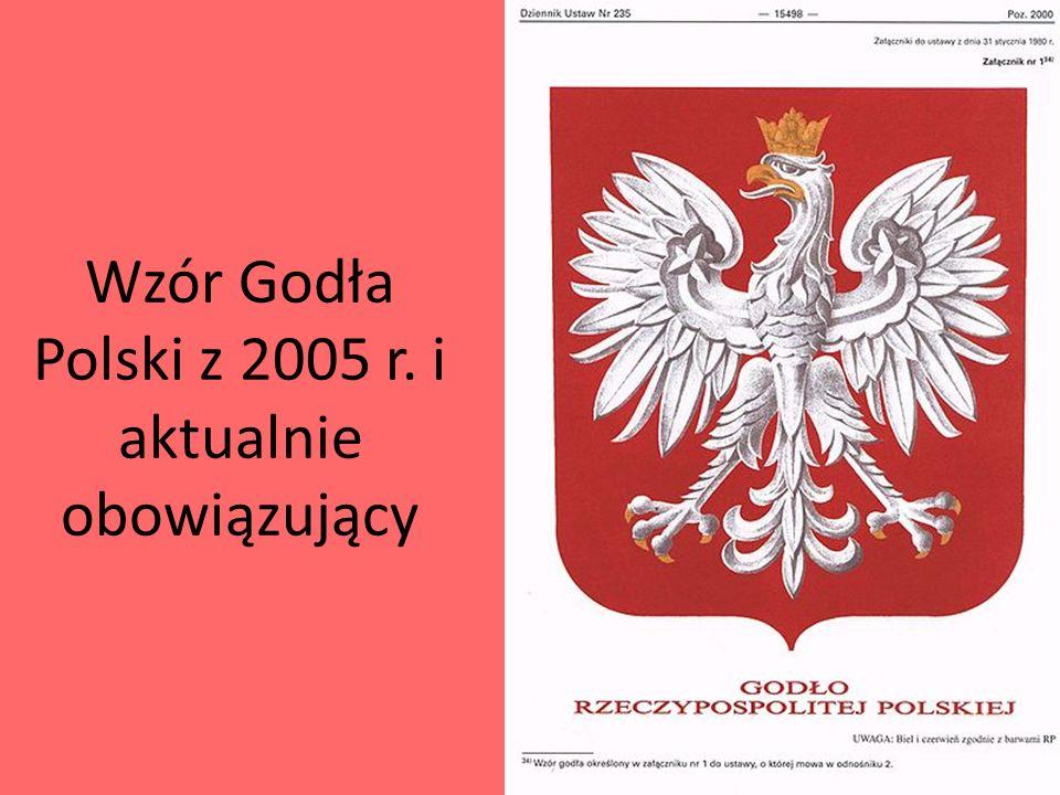 Wzór Godła Polski z 2005 r. i aktualnie obowiązujący