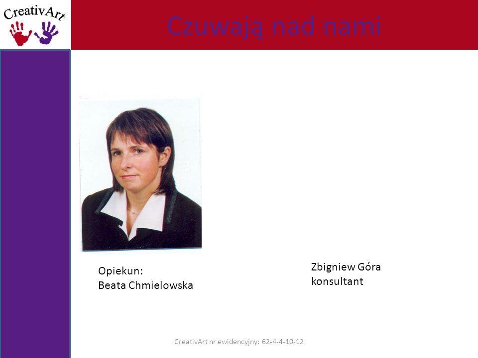 CreativArt nr ewidencyjny: 62-4-4-10-12 Opiekun: Beata Chmielowska Zbigniew Góra konsultant Czuwają nad nami
